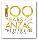 100 years of Anzac logo